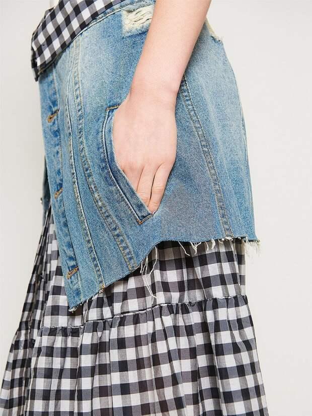 Юбка  из джинсовки