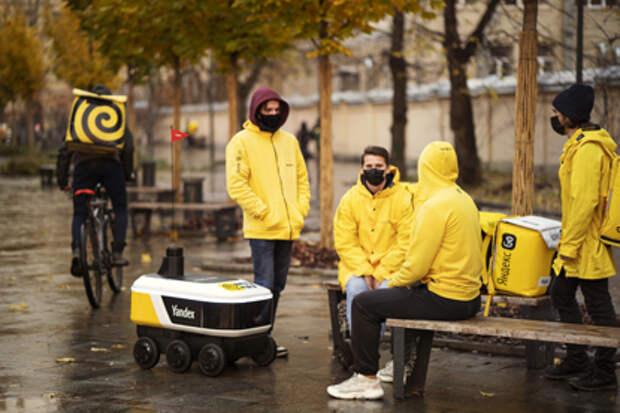 Роботы Яндекса начали доставлять еду