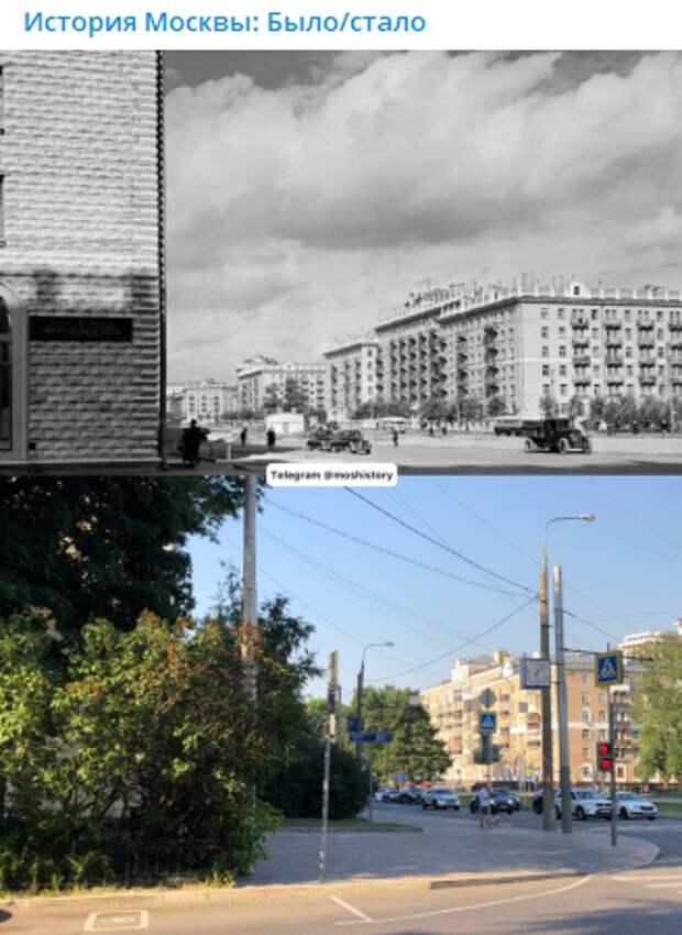 Фото дня: как изменилась Новопесчаная улица за 65 лет