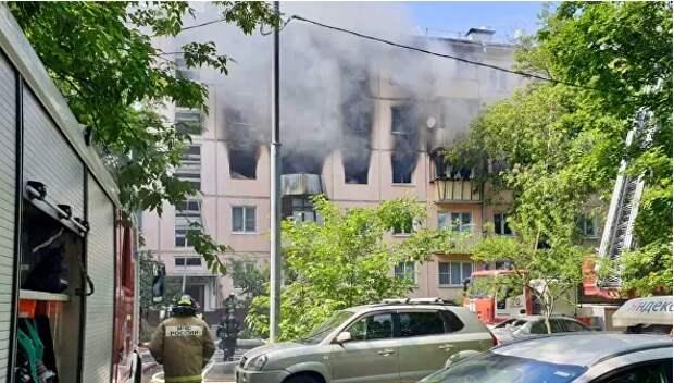СК начал проверку после взрыва газа в жилом доме в Москве