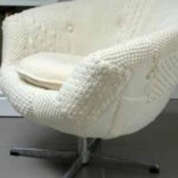 вязание для дома чехол на кресло