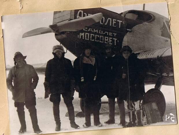Первые самолеты в Красноярске.