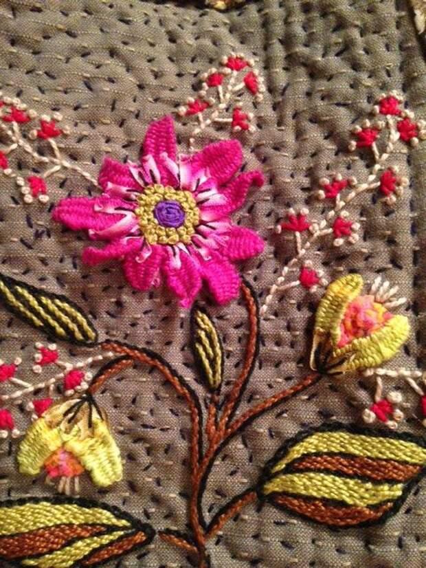 Вышивка цветов: изумительные идеи 5