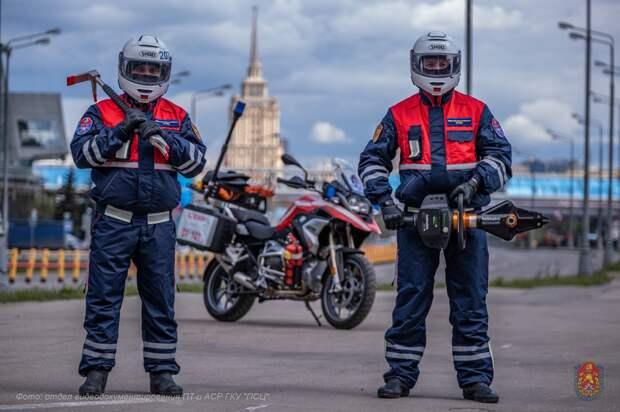 В Москве разработано 11 маршрутов патрулирования для расчетов на пожарно-спасательных мотоциклах