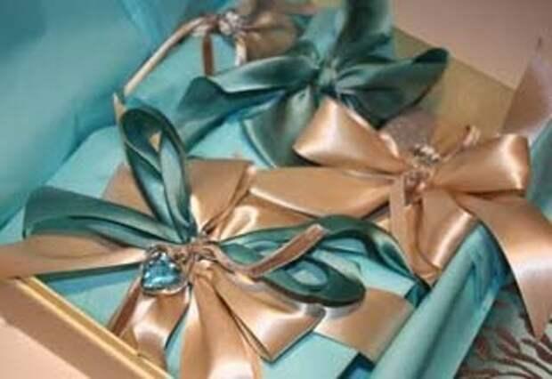Атласные ленты для упаковки подарка