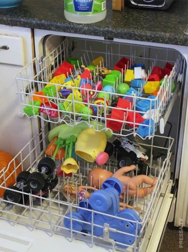 быстро помыть игрушки