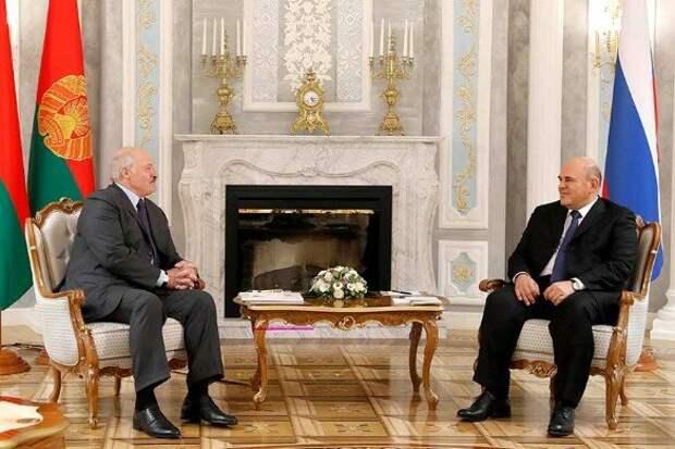 Александр Лукашенко и Михаил Мишустин. Фото: Дмитрий Астахов/POOL/ТАСС