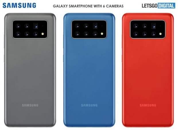 Samsung собирается выпустить шестикамерный смартфон