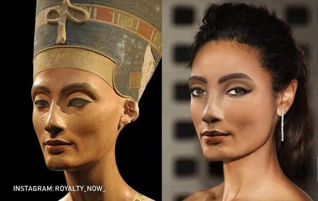 Царица Нефертити, великая жена египетского фараона Эхнатона.