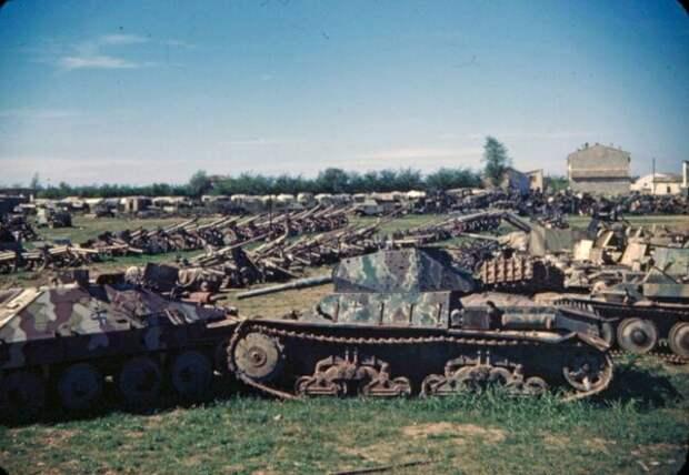 Уникальные цветные фотографии войны.