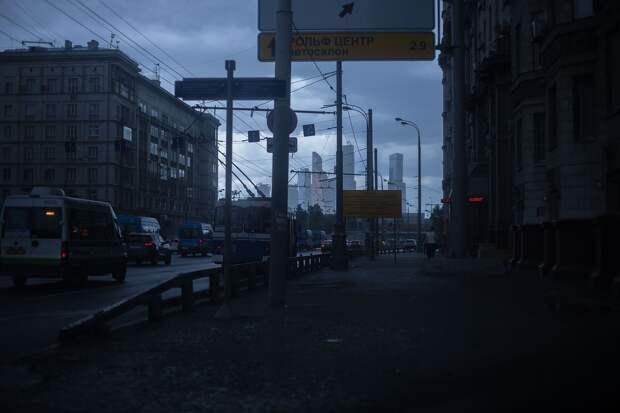 Ливень с градом начался в Москве