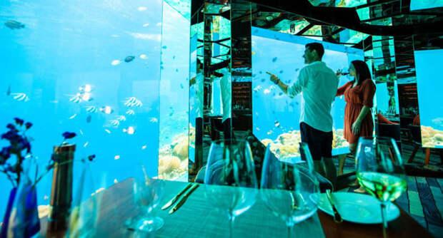Роскошный подводный ресторан на Мальдивах