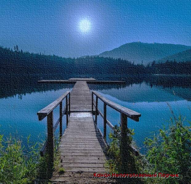 Мостик на озере.