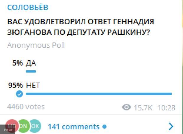 Зюганов пообещал разобраться с сюжетом о заговоре Рашкина против Афонина