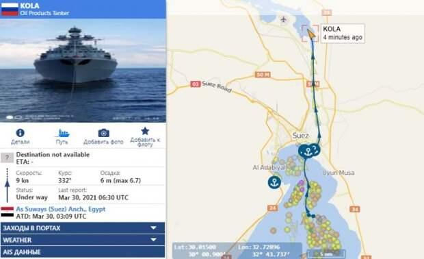 Корабли ВМФ РФ обошли пробку – по Суэцкому каналу вне очереди