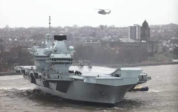 Новейший британский авианосец пробыл в море меньше трёх месяцев и уже дважды был затоплен