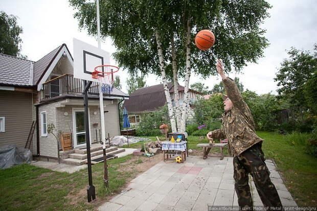 Баскетбольный щит с регулировкой по высоте своими руками (20 фото)