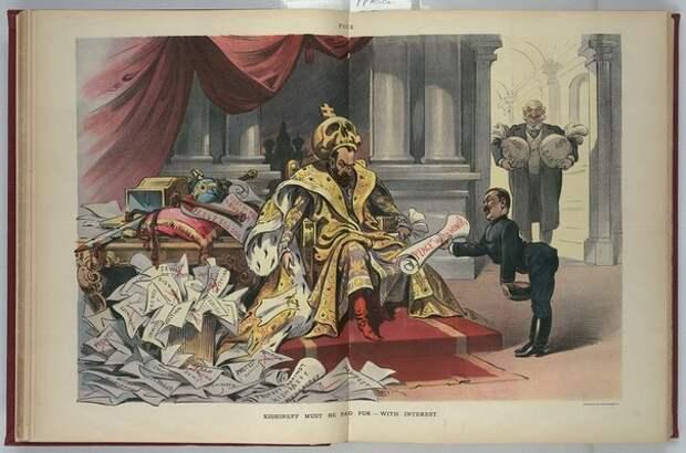 """Карикатуры на Николая II в американском журнале """"Puck"""" (""""Пак"""")"""