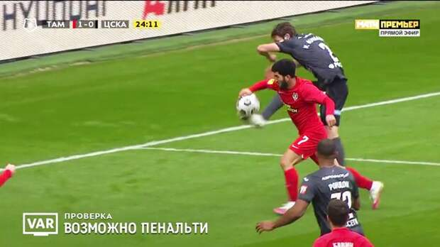 Правильно ли были назначены пенальти в матче «Тамбов» — ЦСКА: разбираем эпизоды