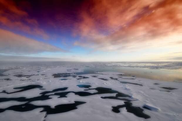 Многолетние льды растаяли в Северном Ледовитом океане