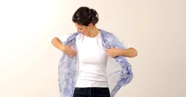 Как красиво завязать платок на шее: 12 простых способов