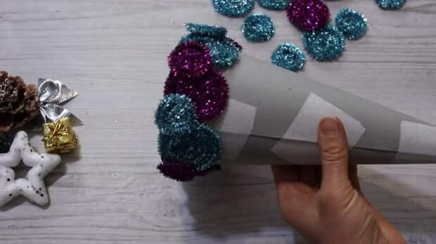 Дешёвая синельная проволока — сокровище! Создаём волшебство к Новому году