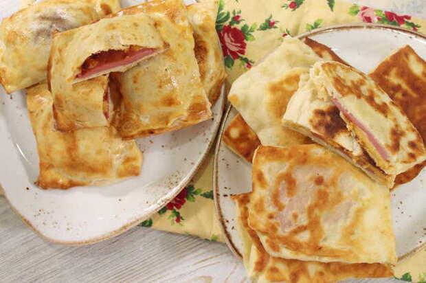 Закрытая мини-пицца с колбасой и сыром Еда, Видео рецепт, Пицца, Пирожок, Видео, Длиннопост, Рецепт, Кулинария