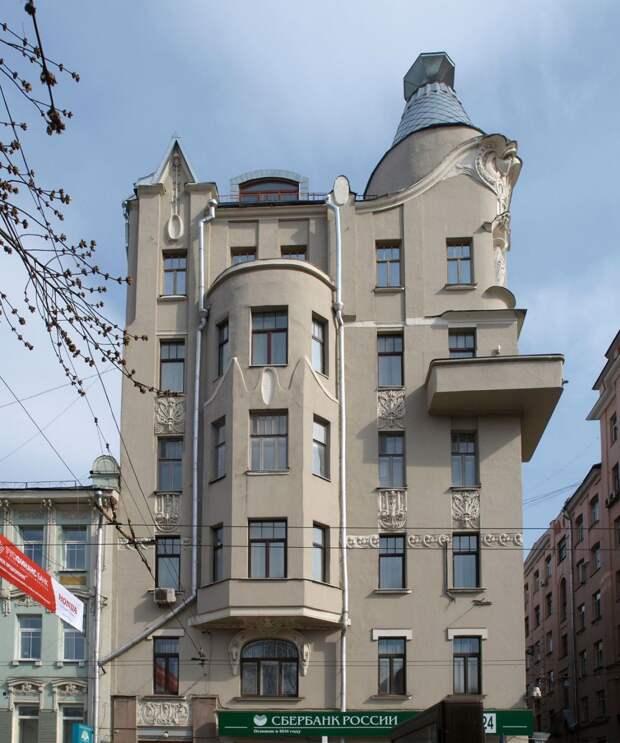 Причудливый декор московских домов в стиле модерн, ч.5
