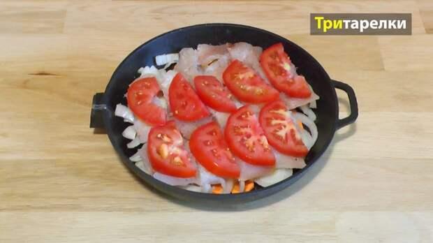 Рыба в духовке с овощами рецепт, рыба запеченная, рыба с овощами, видео рецепт, видео, длиннопост