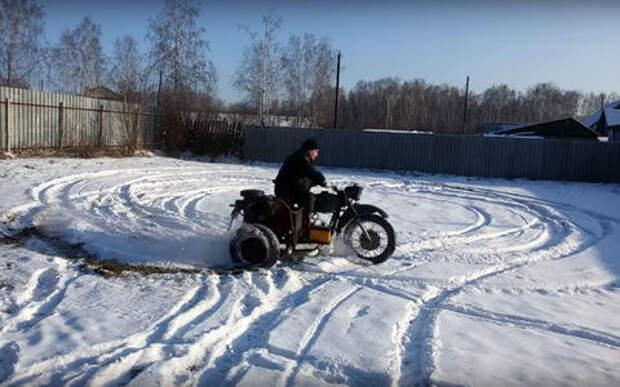Мотоцикл с мотором ВАЗ в коляске — теперь вы видели все!