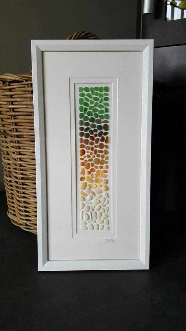 Картины из морского стекла (подборка)