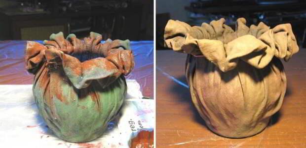 Добавьте к куску старой ткани немного клея, чтобы создать невероятную вещь!