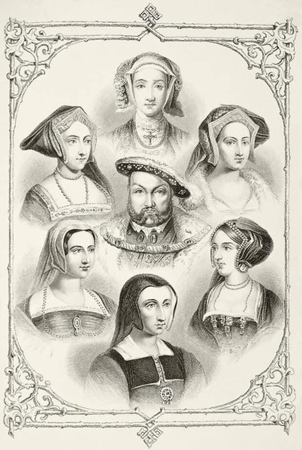 Генирих VIII и его жены