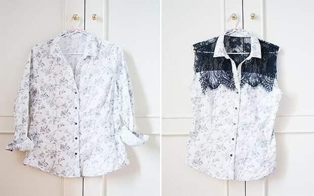 Переделка старой рубашки 9