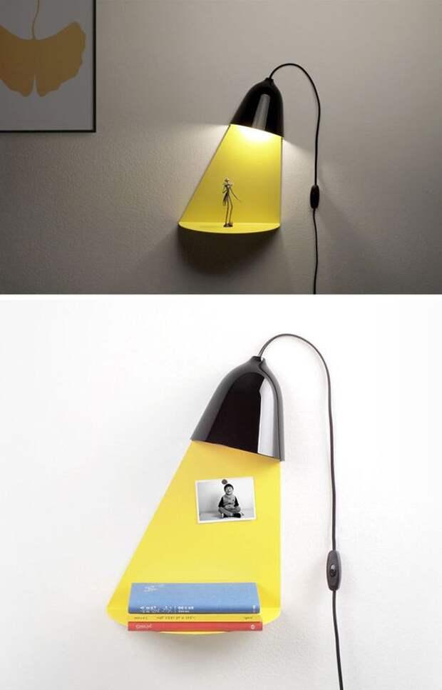 Лампа-полка