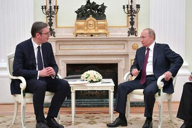 Александр Вучич и Владимир Путин. Фото: Kremlin Pool/Global Look Press/www.globallookpress.com