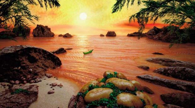 Фантастические пейзажи из еды. Бывает жетакое