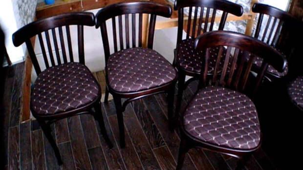 Старые венские стулья, найденные в сарае, были волшебно преображены