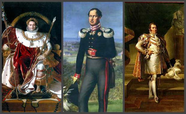 Женихи Анны Павловны: Наполеон Бонапарт, прусский король Фридрих Вильгельм III, наследник Бурбонов принц Карл-Фридрих Беррийский