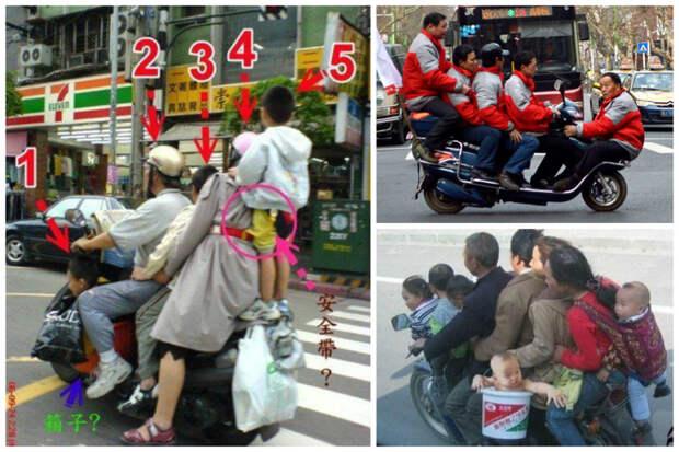 Двухколесный транспорт – незаменимая в хозяйстве вещь велосипед, груз, интересное, мопед, мотоцикл, перевозка, смешно, юмор