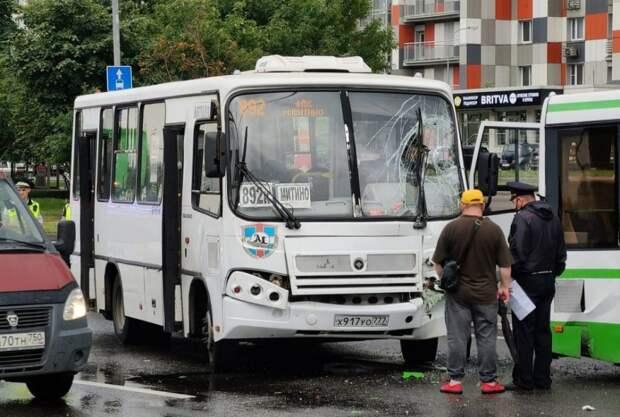 На Пятницком шоссе столкнулись два рейсовых автобуса