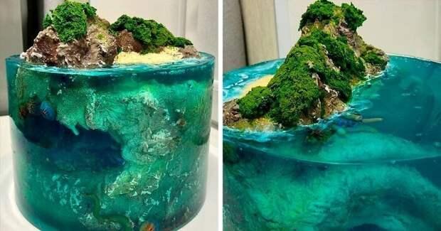 30 тортов, похожих на райские острова, затерянные в океане
