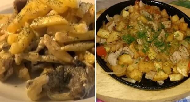 Рецепт скоблянки с грибами и картофелем на обед или ужин