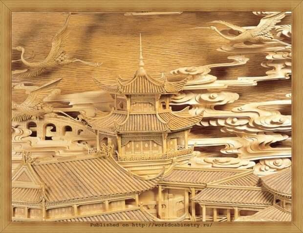 Потрясающая китайская резьба