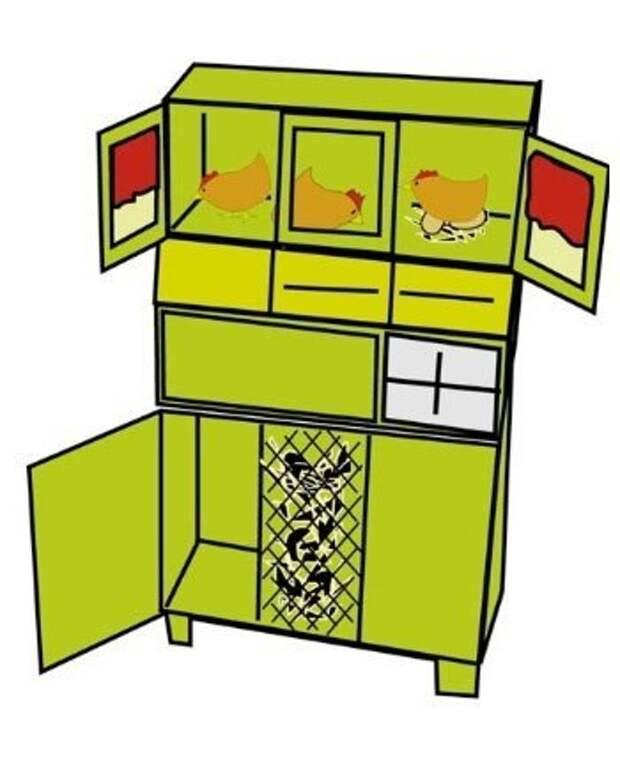 Превращаем обычный шкаф в миникурятник