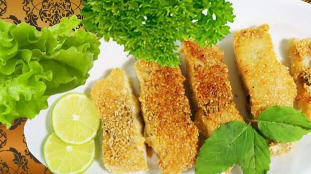 Рыба в корочке из рисовой муки