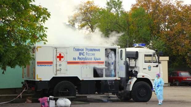 В Симферопольском роддоме проводится дезинфекция от COVID-19