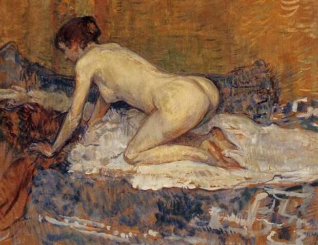 Крадущийся женщина с красными волосами - Анри де Тулуз-Лотрек