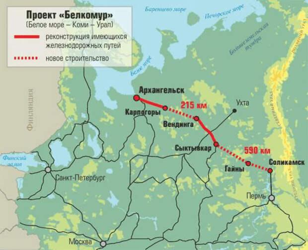 Зачем строят ж/д от Урала до Белого моря? Дороже Крымского моста
