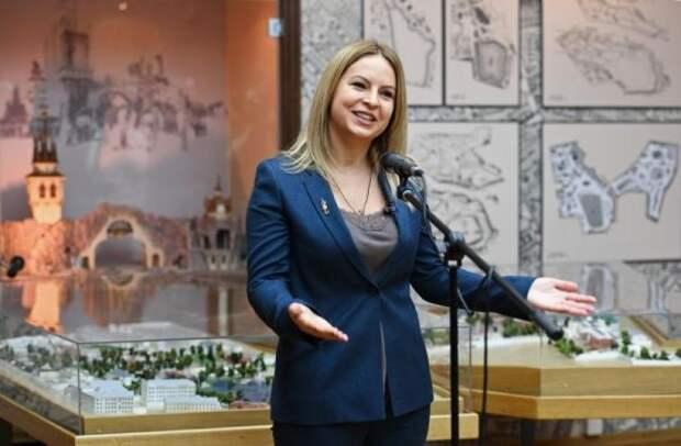 Генеральный директор Московского зоопарка Светлана Акулова выступает на открытии музея Московского зоопарка.